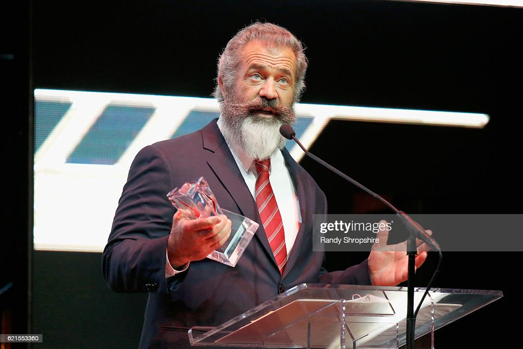 Actor Mel Gibson speaks onstage during the Hamilton Behind The Camera Awards presented by Los Angeles Confidential Magazine at Exchange LA on November 6, 2016 in Los Angeles, California. at Exchange LA on November 6, 2016 in Los Angeles, California.