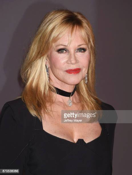 Actor Melanie Griffith attends the 2017 LACMA Art Film Gala Honoring Mark Bradford and George Lucas presented by Gucci at LACMA on November 4 2017 in...