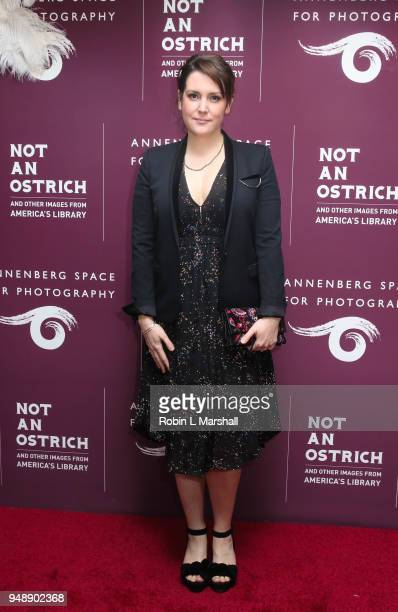 Actor Melanie Lynskey attends Annenberg Space For Photography's 1st Exhibit of 2018 Not An Ostrich And Other Images From America's Library at...