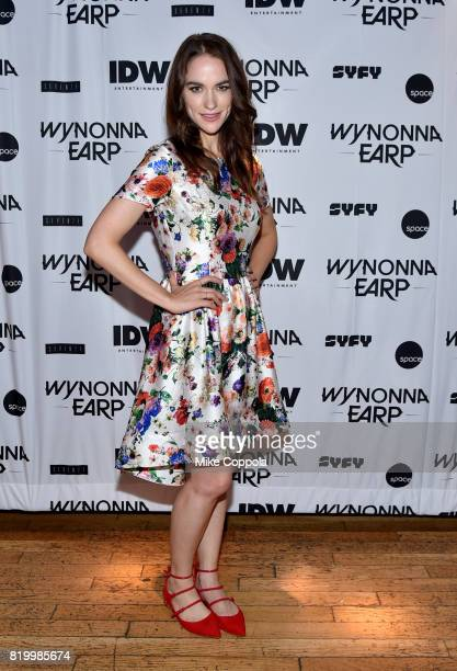 Actor Melanie Scrofano at the Wynonna Earp Media Mixer with cast and Fan Appreciation Party during ComicCon International 2017 on July 20 2017 in San...