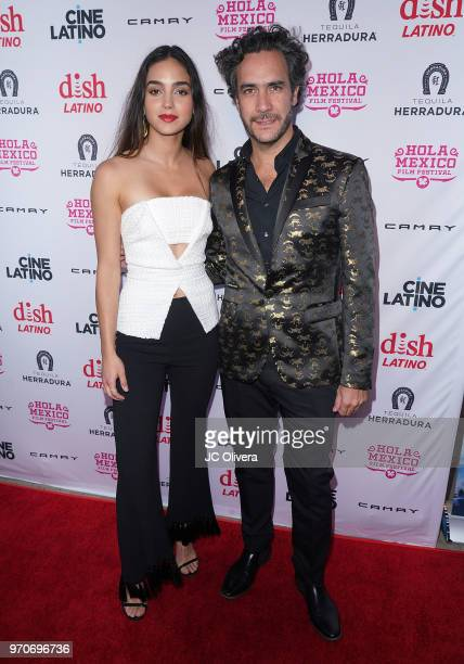 Actor Melissa Barrera and director Andres Ibanez Diaz Infante attend The HOLA Mexico Film Festival presented by DishLATINO closing night gala at LA...