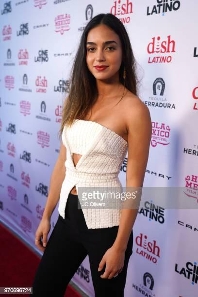 Actor Melissa Barrera attends The HOLA Mexico Film Festival presented by DishLATINO closing night gala at LA Plaza de Cultura y Artes on June 9 2018...