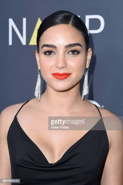 Actor Melissa Barrera attends the NALIP 2018 Latino Media Awards at The Ray Dolby Ballroom at Hollywood Highland Center on June 23 2018 in Hollywood...
