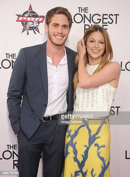 Actor Melissa Benoist and Blake Jenner arrive at the Los Angeles premiere of The Longest Ride at TCL Chinese Theatre IMAX on April 6 2015 in...