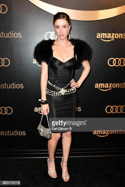 Actor Melissa Bolona attends Amazon Studios' Golden Globes Celebration at The Beverly Hilton Hotel on January 7 2018 in Beverly Hills California