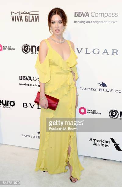 Actor Melissa Bolona attends the 25th Annual Elton John AIDS Foundation's Academy Awards Viewing Party at The City of West Hollywood Park on February...