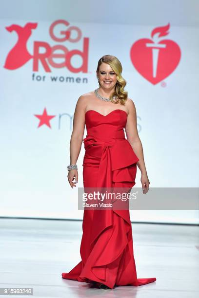 Actor Melissa Joan Hart onstage at the American Heart Association's Go Red For Women Red Dress Collection 2018 presented by Macy's at Hammerstein...