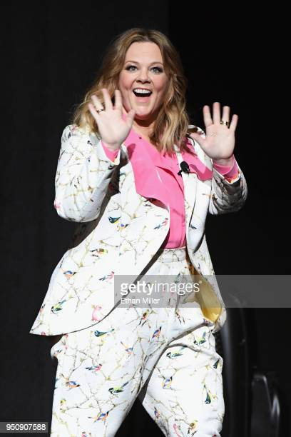 """Actor Melissa McCarthy onstage during CinemaCon 2018 Warner Bros Pictures Invites You to """"The Big Picture"""" an Exclusive Presentation of our Upcoming..."""