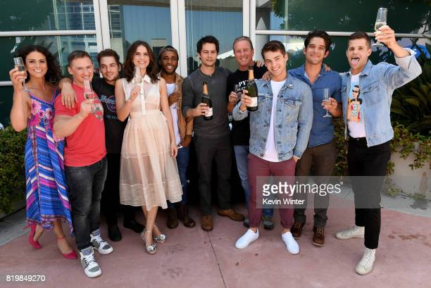 Actor Melissa Ponzio executive producer Jeff Davis actors Dylan Sprayberry Shelley Hennig Khylin Rhambo Dylan O'Brien Linden Ashby Cody Christian...