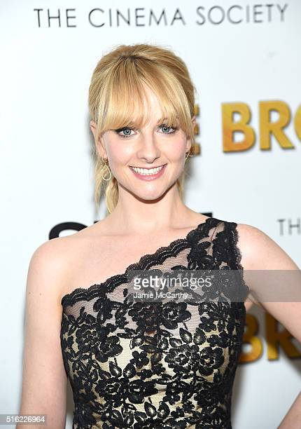 Actor Melissa Rauch attends a screening of Sony Pictures Classics' The Bronze hosted by Cinema Society SELF at Metrograph on March 17 2016 in New...