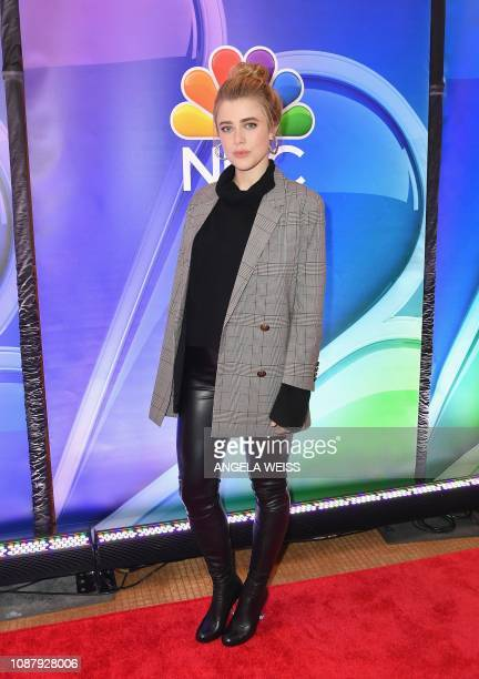 Actor Melissa Roxburgh attends the NBC midseason press junket at The Four Seasons in New York on January 24 2019