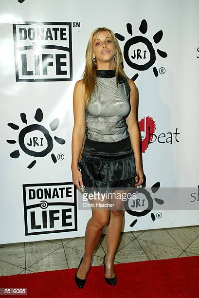 Actor Melissa Schuman attends the First Annual 'Share the Beat' to benefit transplant awareness at Cicada Restaurant on September 20 2003 in Los...