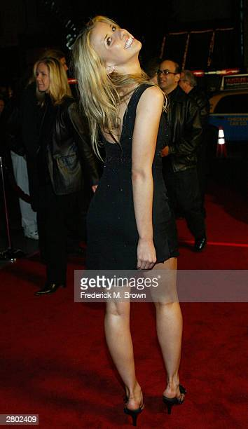 Actor Melissa Shuman attends the film premiere of 'Love Don't Cost a Thing' at the Grauman's Chinese Theater on December 10 2003 in Hollywood...