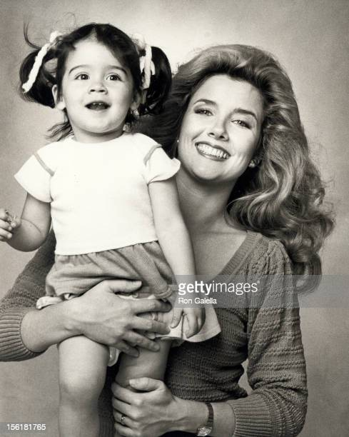 Actor Melody Thomas Scott and daughter Alexandra Scott poses for 'Exclusive Photo Session' on April 20 1984 at her home in Los Angeles California
