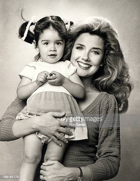 Actor Melody Thomas Scott and daughter Alexandra Scott poses for 'Exclusive Photo Session' on April 20 1984 at Melody Thomas Scott's home in Los...