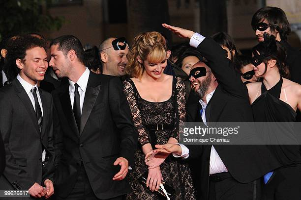 Actor Melvil Poupaud , actress Louise Bourgoin , director Gilles Marchand and Pauline Etienne and guest attend the 'Black Heaven' Premiere held at...
