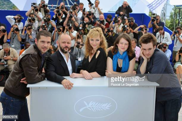 """Actor Melvil Poupaud, Director Gilles Marchand, actresses Louise Bourgoin, Pauline Etienne and Actor Gregoire Leprince-Ringuet attend the """"Black..."""