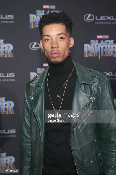 Actor Melvin Gregg at the Los Angeles World Premiere of Marvel Studios' BLACK PANTHER at Dolby Theatre on January 29 2018 in Hollywood California
