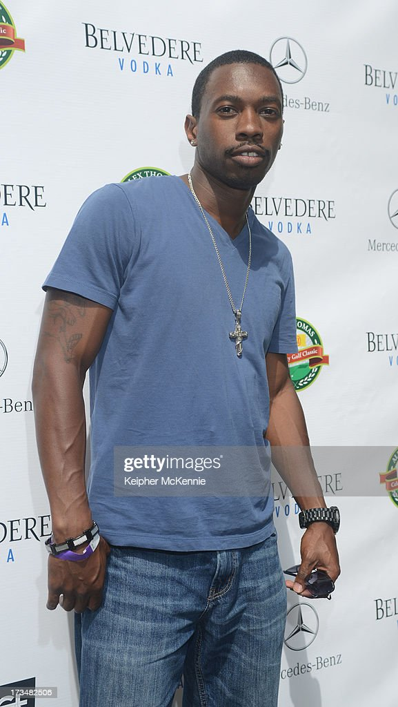 Actor Melvin Jackson arrives to the 4th Annual Alex Thomas Celebrity Golf Weekend Pool Party hosted by NFL's Jacoby Jones of the Baltimore Ravens at Hollywood Roosevelt Hotel on July 14, 2013 in Hollywood, California.