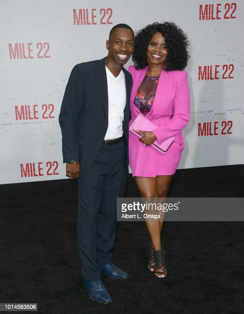 Actor Melvin Jackson Jr and actress Kelly Jenrette arrive for the Premiere Of STX Films' 'Mile 22' held at Westwood Village Theatre on August 9 2018...