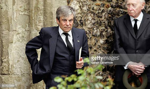 Actor Melvyn Hayes attends the funeral service held for Sir John Mills on April 27 2005 in Denham Buckinghamshire