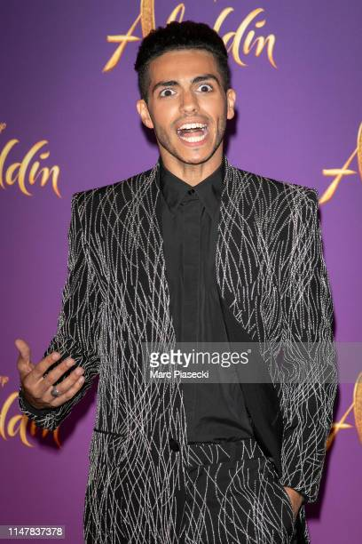 "Actor Mena Massoud attends the ""Aladdin"" Paris Gala Screening at Cinema Le Grand Rex on May 08 2019 in Paris France"
