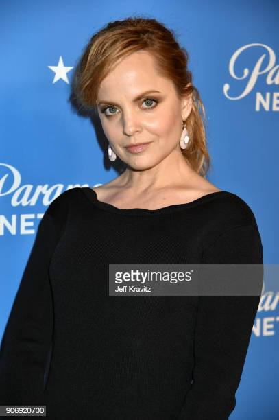 Actor Mena Suvari attends Paramount Network Launch Party at Sunset Tower on January 18 2018 in Los Angeles California