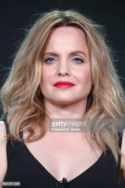 Actor Mena Suvari of 'American Woman' speaks onstage during the Paramount Network portion of the 2018 Winter Television Critics Association Press...