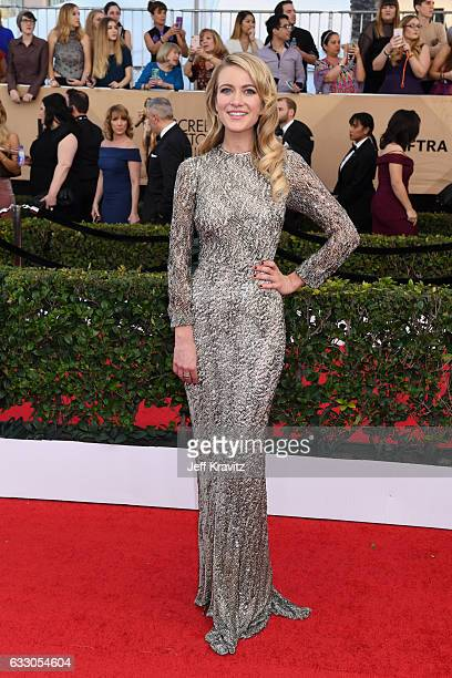 Actor Meredith Hagner attends the 23rd Annual Screen Actors Guild Awards at The Shrine Expo Hall on January 29 2017 in Los Angeles California