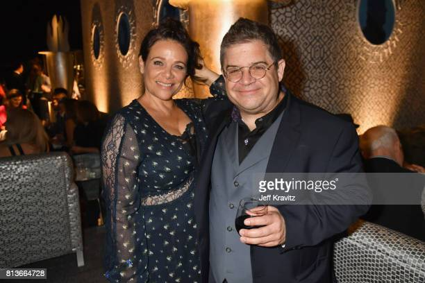 Actor Meredith Salenger and comedian Patton Oswalt at the Los Angeles Premiere for the seventh season of HBO's Game Of Thrones at Walt Disney Concert...