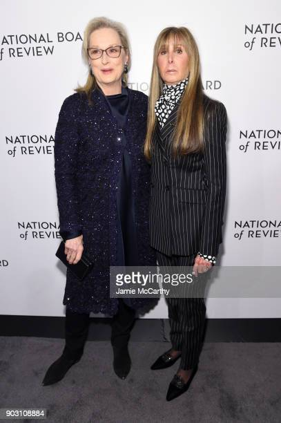 Actor Meryl Streep and National Board of Review President Annie Schulhof attend the The National Board Of Review Annual Awards Gala at Cipriani 42nd...