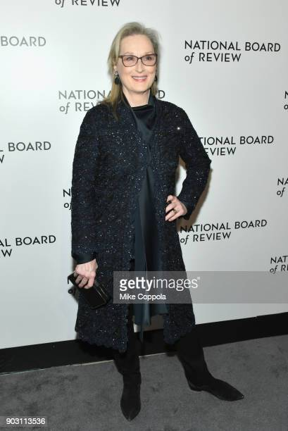 Actor Meryl Streep attends the 2018 The National Board Of Review Annual Awards Gala at Cipriani 42nd Street on January 9 2018 in New York City