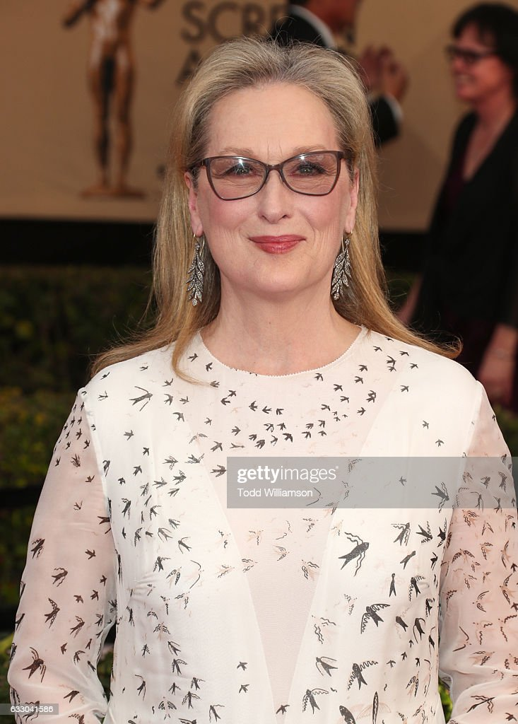 Actor Meryl Streep attends the 23rd Annual Screen Actors Guild Awards at The Shrine Expo Hall on January 29, 2017 in Los Angeles, California.