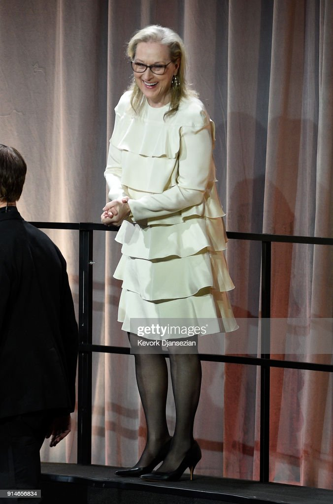 Actor Meryl Streep attends the 90th Annual Academy Awards Nominee Luncheon at The Beverly Hilton Hotel on February 5, 2018 in Beverly Hills, California.