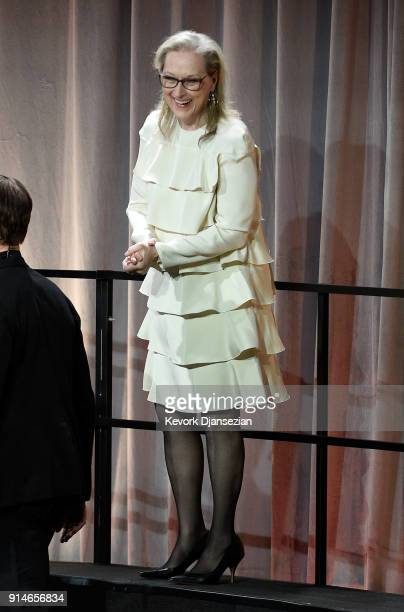 Actor Meryl Streep attends the 90th Annual Academy Awards Nominee Luncheon at The Beverly Hilton Hotel on February 5 2018 in Beverly Hills California