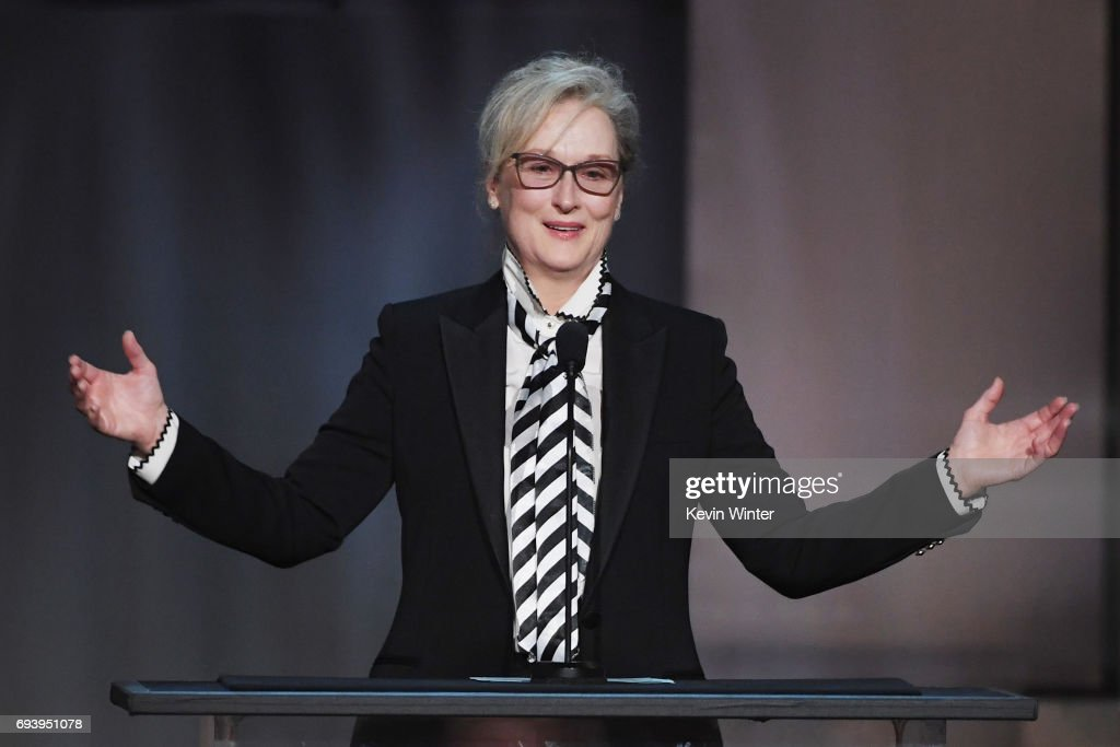 Actor Meryl Streep speaks onstage during American Film Institute's 45th Life Achievement Award Gala Tribute to Diane Keaton at Dolby Theatre on June 8, 2017 in Hollywood, California. 26658_007
