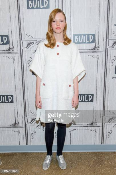 Actor Mia Goth discusses A Cure For Wellness with The Build Series at Build Studio on February 14 2017 in New York City