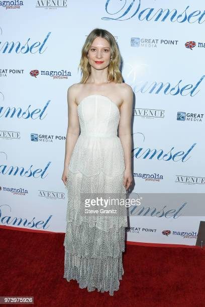Actor Mia Wasikowska attend Magnolia Pictures' 'Damsel' premiere at ArcLight Hollywood on June 13 2018 in Hollywood California