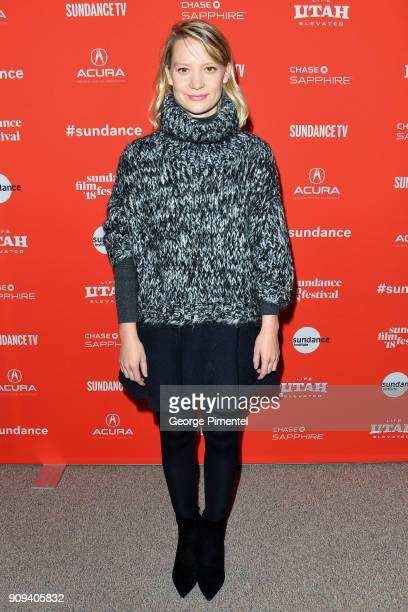 Actor Mia Wasikowska attends the 'Damsel' Premiere during the 2018 Sundance Film Festival at Eccles Center Theatre on January 23 2018 in Park City...