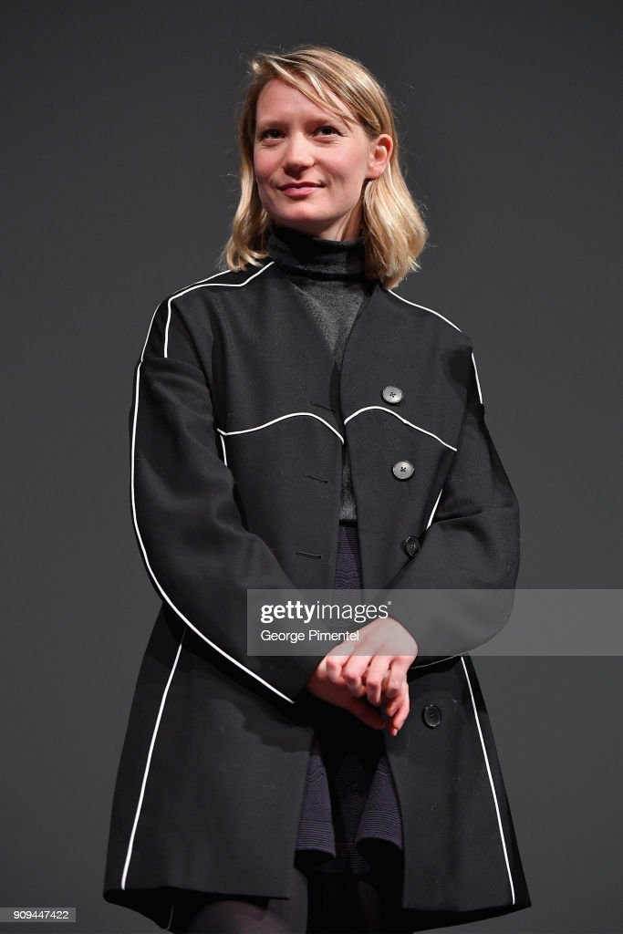 Actor Mia Wasikowska speaks onstage during the 'Damsel' Premiere during the 2018 Sundance Film Festival at Eccles Center Theatre on January 23, 2018 in Park City, Utah.