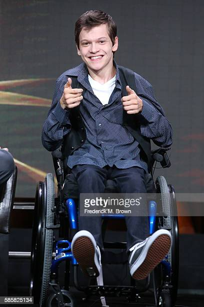 Actor Micah Fowler speaks onstage at the 'Speechless' panel discussion during the Disney ABC Television Group portion of the 2016 Television Critics...