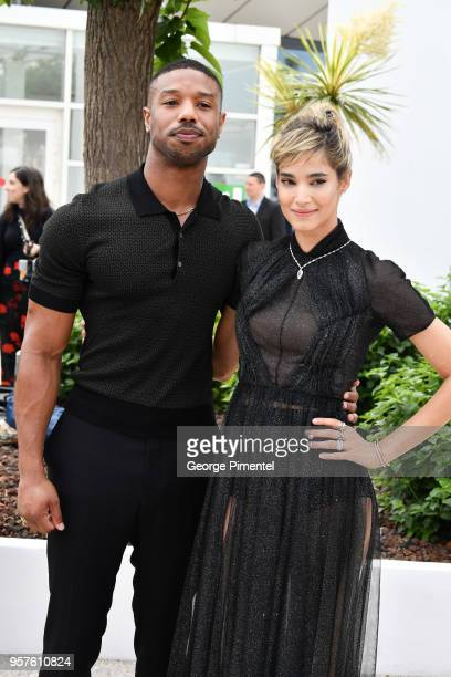 Actor Michael B Jordan adn actress Sofia Boutella attends the photocall for the 'Farenheit 451' during the 71st annual Cannes Film Festival at Palais...