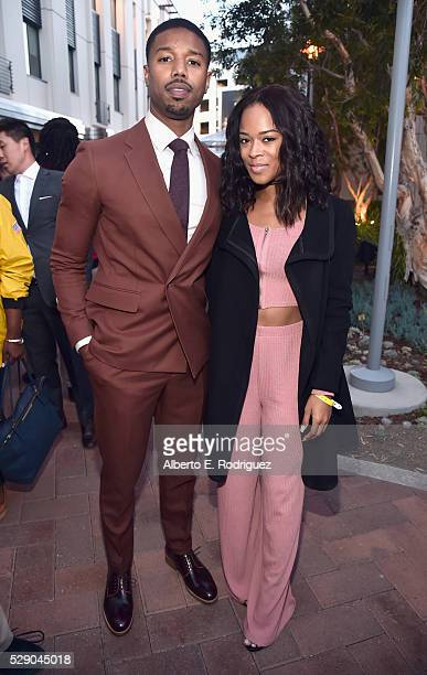 Actor Michael B Jordan and actress Serayah attend City Year Los Angeles Spring Break Event at Sony Studios on May 7 2016 in Los Angeles California