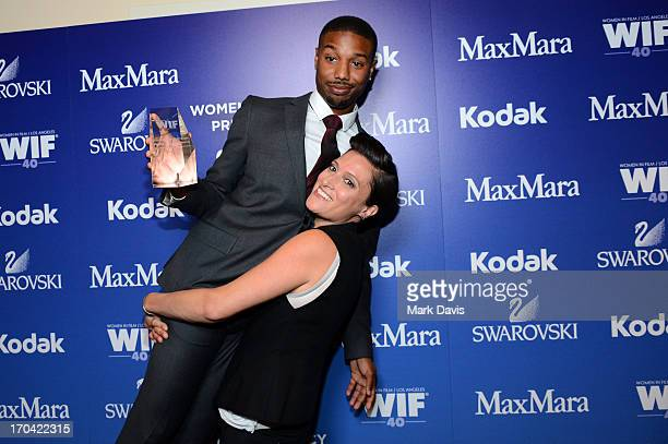 Actor Michael B Jordan and cinematographer Rachel Morrison attend Women In Film's 2013 Crystal Lucy Awards at The Beverly Hilton Hotel on June 12...