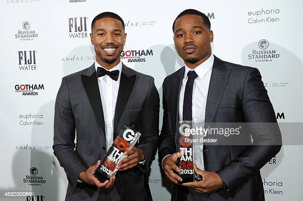 Actor Michael B Jordan and director Ryan Coogler attend the 2013 Gotham Independent Film Awards Sponsored by FIJI Water on December 2 2013 in New...