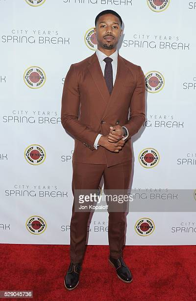 Actor Michael B Jordan arrives at City Year Los Angeles' Spring Break Destination Education at Sony Pictures Studios on May 7 2016 in Culver City...