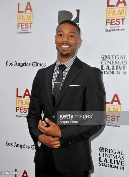 """Actor Michael B. Jordan arrives at the premiere of The Weinstein Company's """"Fruitvale Station"""" during the 2013 Los Angeles Film Festival at Regal..."""