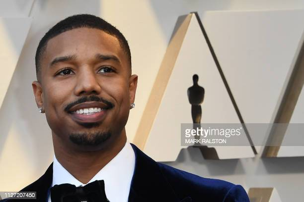 US actor Michael B Jordan arrives for the 91st Annual Academy Awards at the Dolby Theatre in Hollywood California on February 24 2019