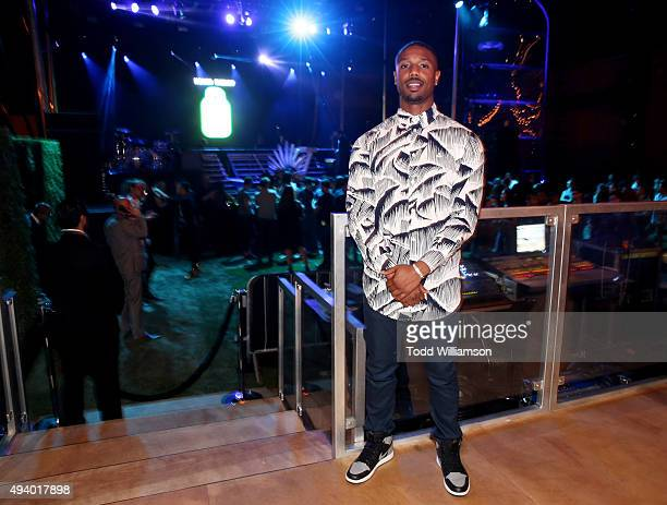 Actor Michael B Jordan attends Absolut Electrik House an epic house party transformed by the energy of its guests in celebration of new limited...