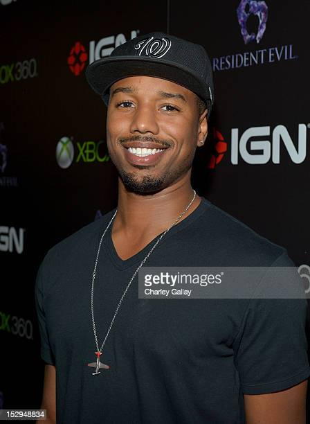 Actor Michael B Jordan attends IGN and Capcom's party celebrating the launch of Resident Evil 6 at Lure on September 28 2012 in Hollywood California